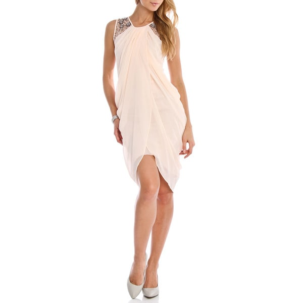 London Dress Company Women's Grecian Style Drape Dress