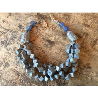 Sally Bass Origonal Blue Coral Necklace (Refurbished)