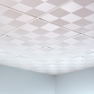 Fasade Quattro Gloss White 2-foot Square Lay-in Ceiling Tile