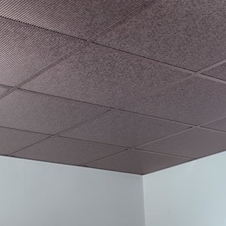Black drop ceiling tiles