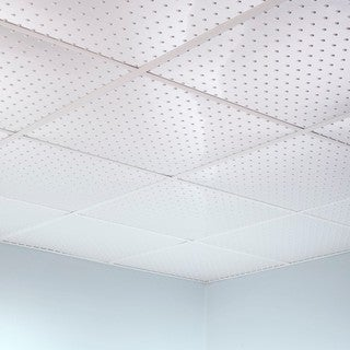 Fasade Minidome Gloss White 2-foot Square Lay-in Ceiling Tile