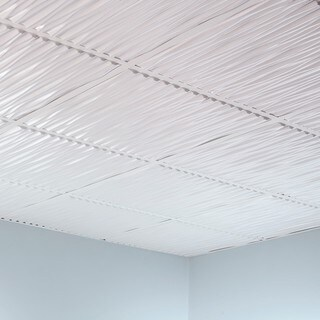 Fasade Dunes Matte White 2-foot Square Lay-in Ceiling Tile