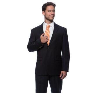Prontomoda Europa Men's 'Super 140's' Navy Natural Stretch Wool Jacket