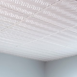 Fasade Current Matte White 2-foot Square Lay-in Ceiling Tile