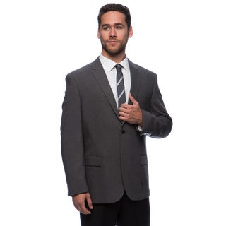 Caravelli Men's 'Superior 150's' Big and Tall Grey Wool Feel Jacket