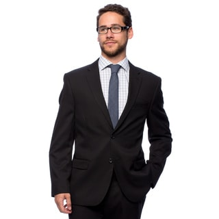 Bolzano Men'sw Big and Tall Black 2-button Suit
