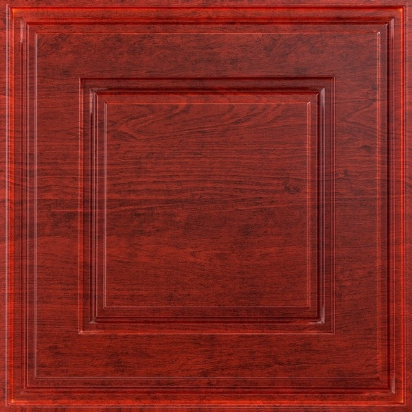 Fasade Raised Coffer Cherry 2-foot Square Lay-in Ceiling Tile