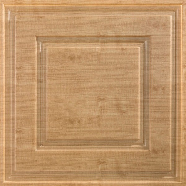 Fasade Raised Coffer Maple 2-foot Square Lay-in Ceiling Tile