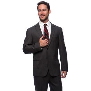 Prontomoda Europa Men's Charcoal Birdeye Wool Suit