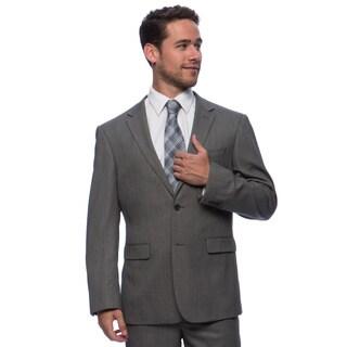 Prontomoda Europa Men's Grey Birdeye Wool Suit