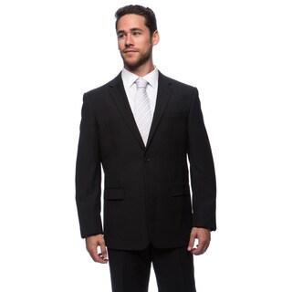 Prontomoda Europa Men's Charcoal Stripe Wool Suit