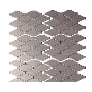 Aspect 6x4-inch Wavelength Stainless Matted Metal Tile (6-pack)