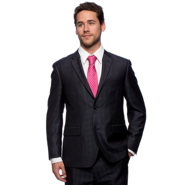 Caravelli Men's Slim Fit Navy Wool Feel Suit