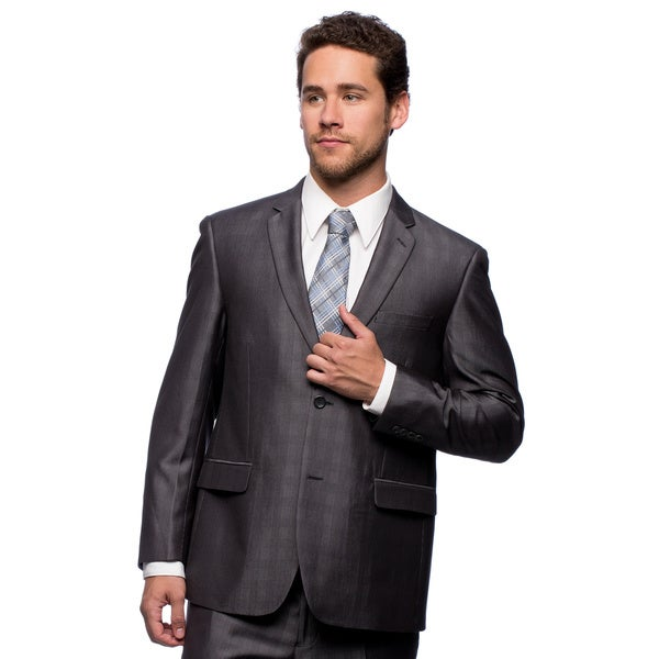 Caravelli Men's Slim Fit Grey Wool Feel Suit