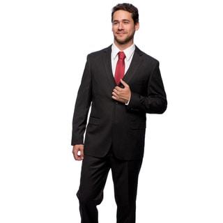 Caravelli Men's Slim Fit Grey Stripe 2-button Vested Suit