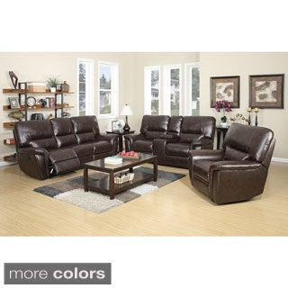 Providence Leather Air Recliner Sofa, Loveseat and Recliner Chair Set