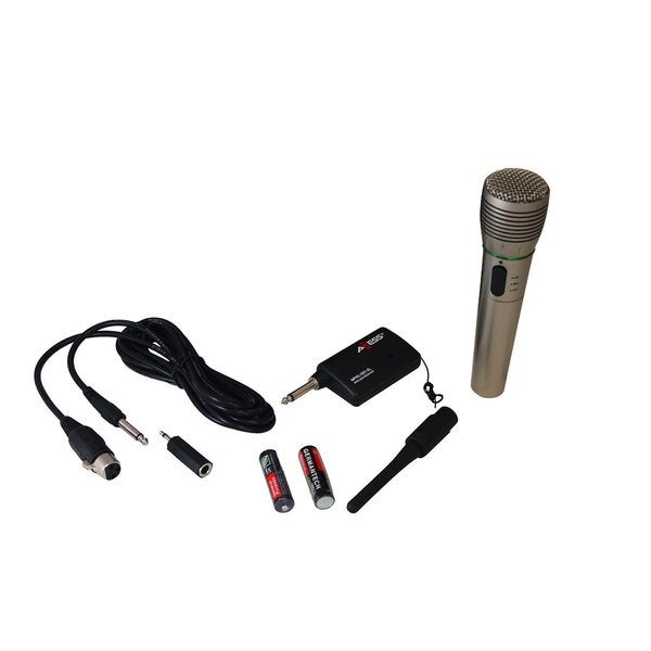 Axxess MPWL1501-SL Professional Wireless/ Wired Microphone with Adapter and 90-foot Range