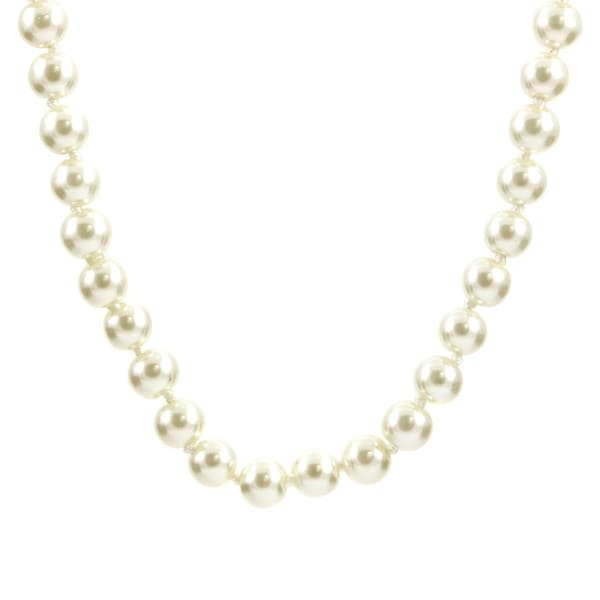 "Bridal Pearl Necklace: 35"" Faux Pearl"