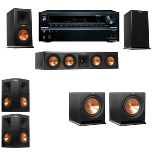 Klipsch RP-160M-E Monitor Speaker 5.2 R112SW Onkyo TX-NR646