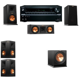Klipsch RP-150M-E Monitor Speaker 5.1 R112SW Onkyo TX-NR646