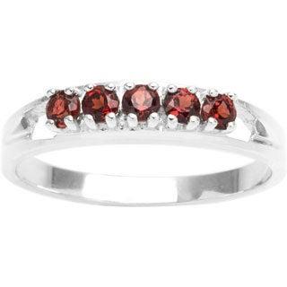 Sterling Silver 5-stone Birthstone Ring