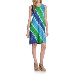 La Cera Women's Tie Dye Tank Dress