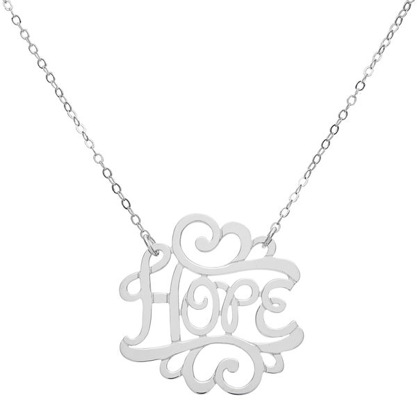 Sterling Silver 'Hope' Necklace
