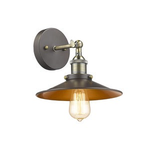 Chloe Lighting Loft/Industrial 1-light Oil Rubbed Bronze Wall Sconce