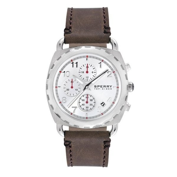 Sperry Top-Sider Men's Chronograph Mariner Brown Leather Strap 40mm 102032