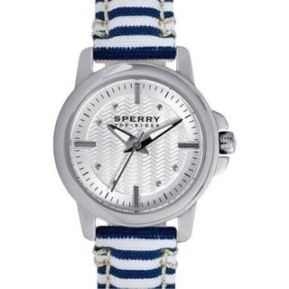 Sperry Top-Sider Women's Halyard Striped Cloth Wristband Mini Watch 10023544