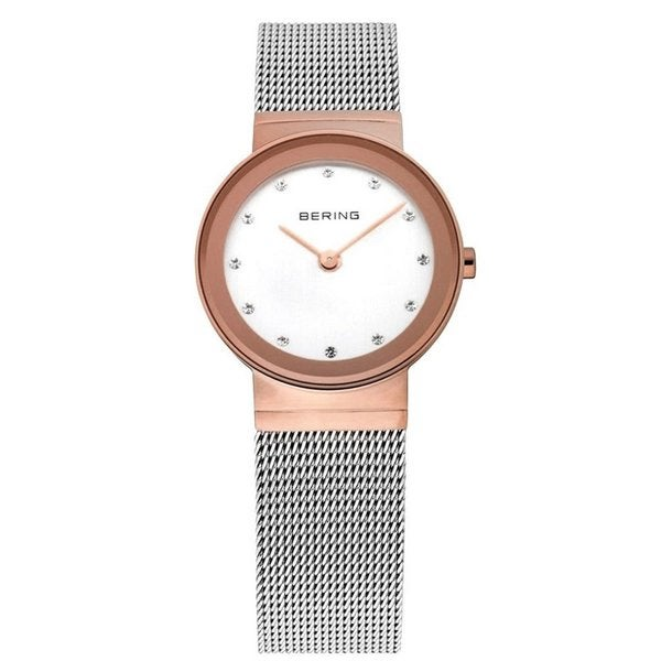 Bering Women's Classic Swarovski Crystals Rose Gold Tone Watch 10126-066
