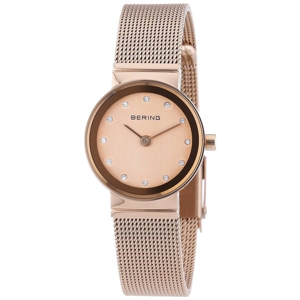 Bering Women's Swarovski Crystals Rose Gold Tone Watch 10122-366-1