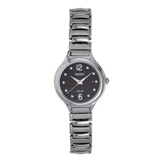 Seiko SUT177 Women's Solar Silver Tone Casual Date Watch