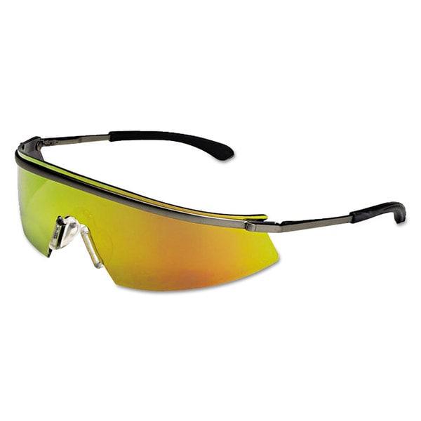 Crews Triwear Platinum Frame, Fire Lens Metal Protective Eyewear
