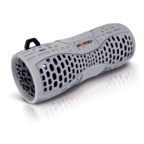Axxess SPBW1035-GY-BK Grey Portable Waterproof Bluetooth Speaker System