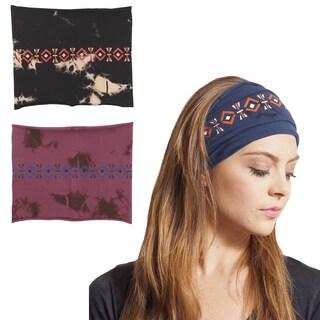Native Aztec Organic Cotton Wide Headband Wrap (Nepal)