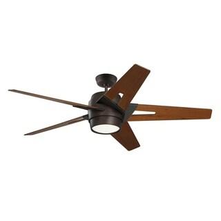 Emerson Luxe Eco 54-inch Walnut Blades Oil Rubbed Bronze Modern Ceiling Fan