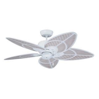 Emerson Batalie Breeze 52-inch Satin White Indoor/Outdoor Ceiling Fan