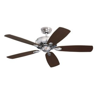 Emerson Prima 52-inch Brushed Steel Traditional Energy Star Ceiling Fan with Reversible Blades