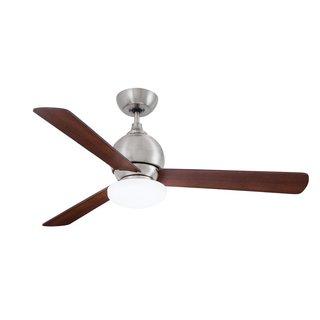 Emerson Bradshaw 52-inch Brushed Steel Modern Ceiling Fan