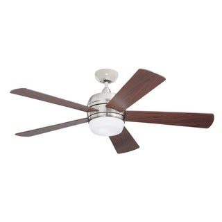 Emerson Atomical 52-inch Brushed Steel Modern Indoor/Outdoor Ceiling Fan
