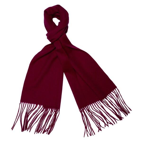 Cashmere/ Wool Blend Waterweave Scarf