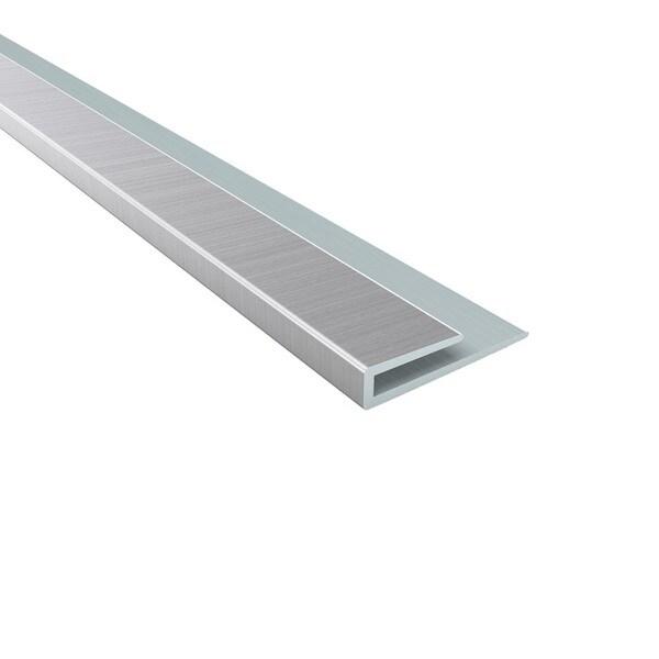 Fasade 4 Foot Brushed Aluminum Large Profile J Trim