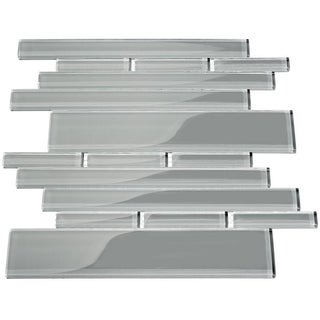 True Gray Club 7.81 Square Foot Piano Tiles (Case of 11 Sheets)