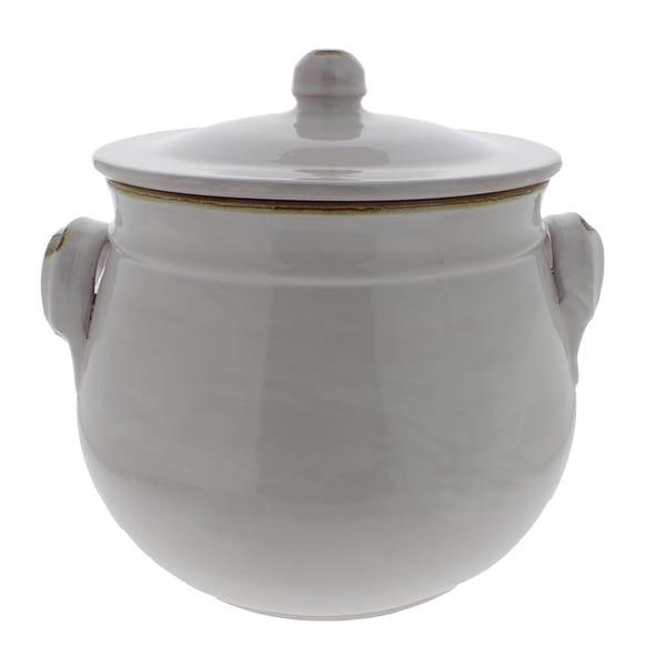 French Home 6.25-quart White Stoneware Bean Pot