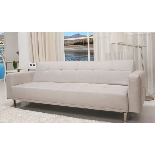 SB-9016 Contemporary Home Design Beige Fabric Sofa Bed