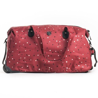 CalPak 'Madison' Red Dots 21-inch Carry On Rolling Duffel Bag