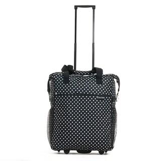 Calpak 'Big Eazy' Black Dots 20-inch Washable Rolling Shopping Tote Bag