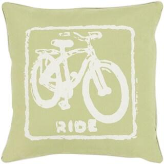 Decorative Delbert Ride 22-inch Throw Pillow