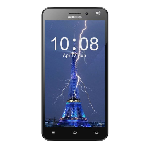 CellAllure Bolt Black 5.5-inch 8GB Unlocked GSM 4G Quad-Core Android 4.4.4 Smartphone
